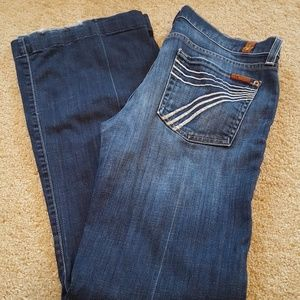 7FAM 7 For All Mankind Dojo Jeans White Stitching